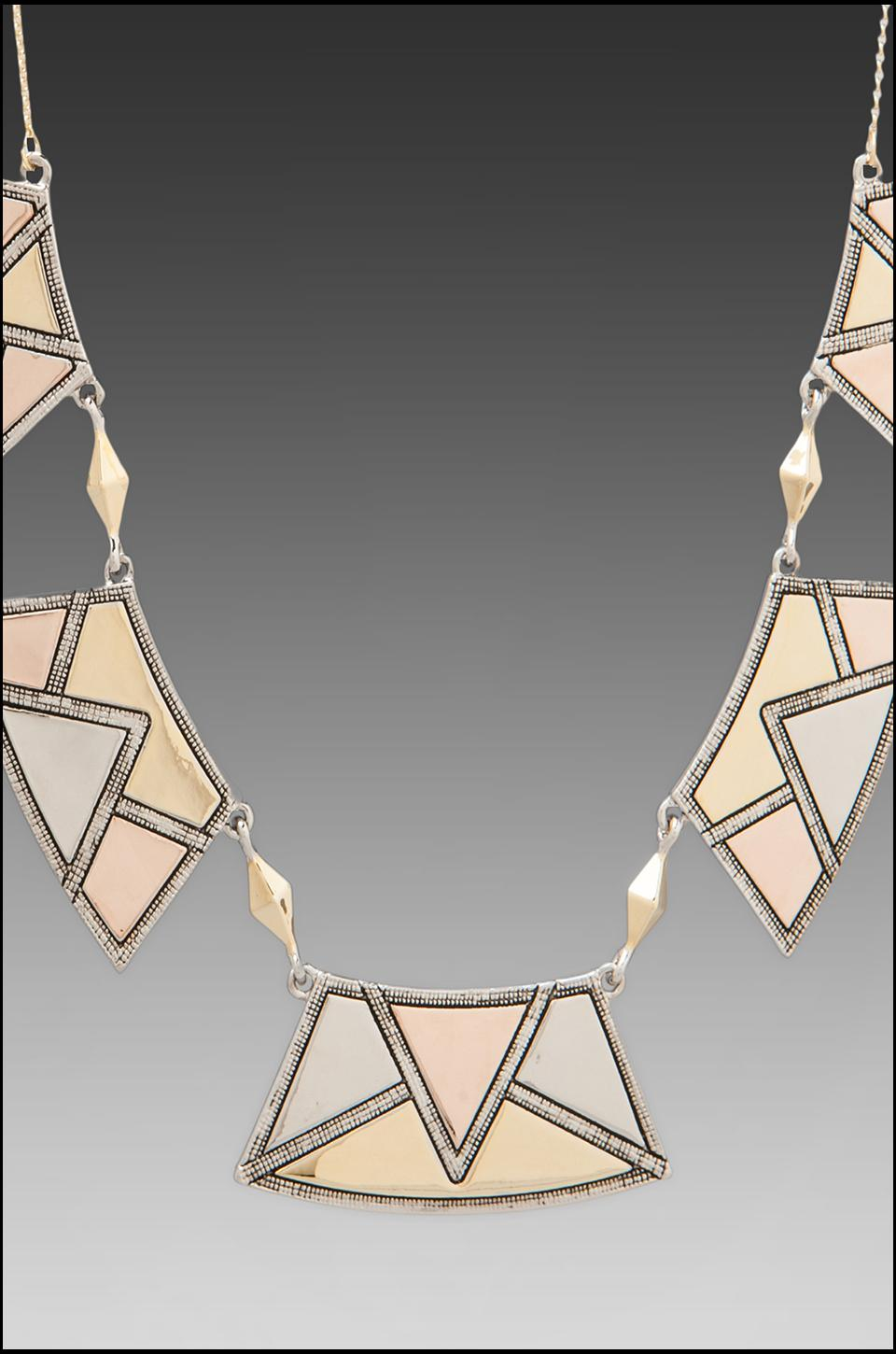 House of Harlow Sancai Collar Necklace in Tri-tone