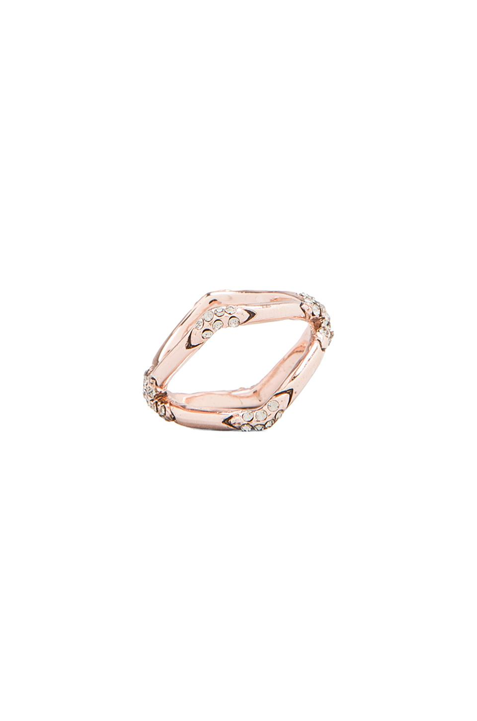 House of Harlow Sound Waves Ring in Rose Gold