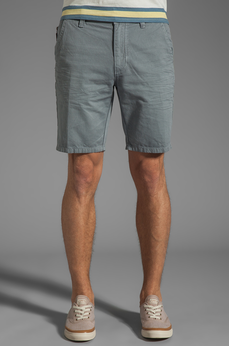 Howe Eye Know Shorts in Grey Skies