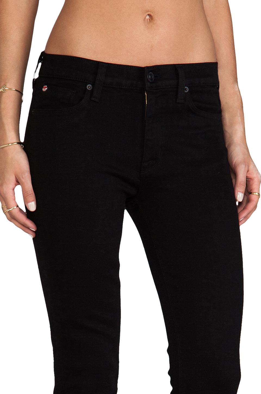Hudson Jeans Nico Mid Rise Super Skinny in Black