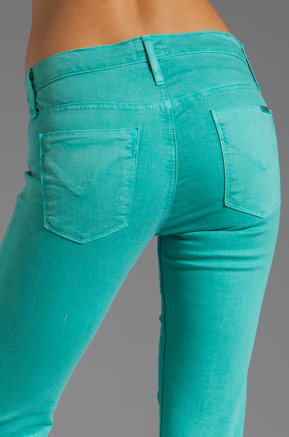 Hudson Jeans Nico Midrise Super Skinny in Soft Teal