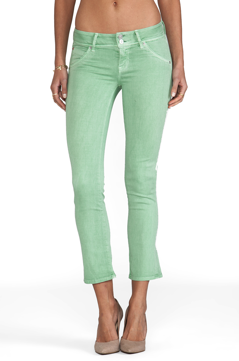 Hudson Jeans Beth Baby Boot Cut in Soft Sage