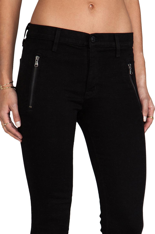 Hudson Jeans Charlotte Moto Skinny in Black