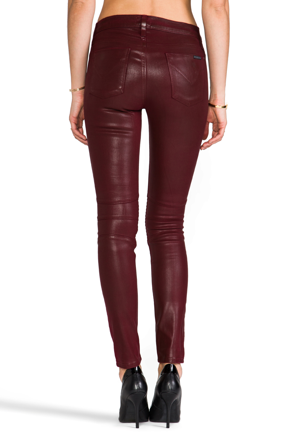 Hudson Jeans Stark Moto in Crimson Wax