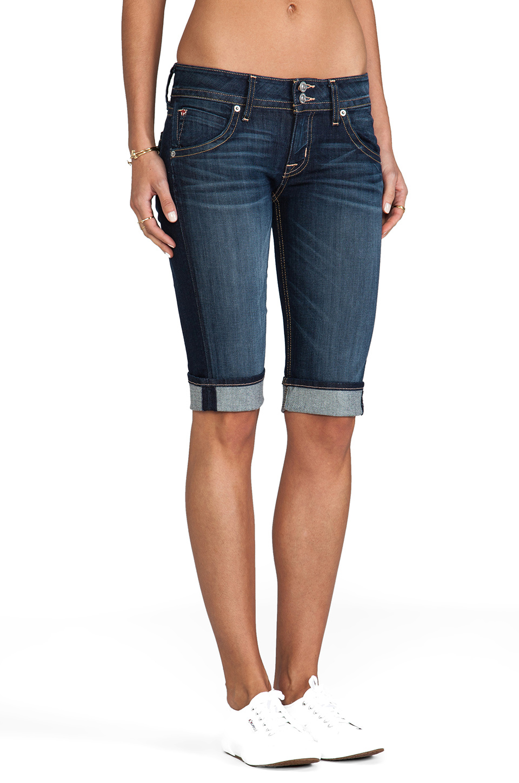 Hudson Jeans Palerme Cuff Knee Short in Stella