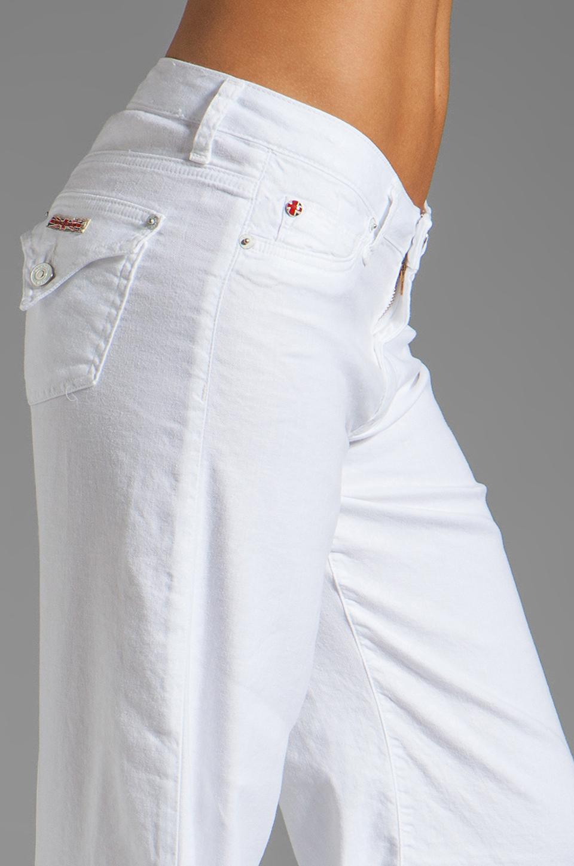 Hudson Jeans Gwen Midrise Wide Leg in White