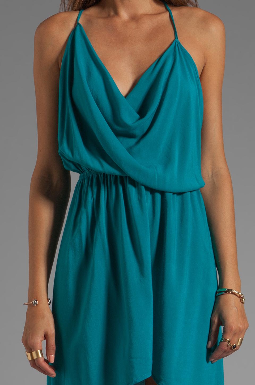 Indah Rinjani Draped Back Sundress in Turquoise