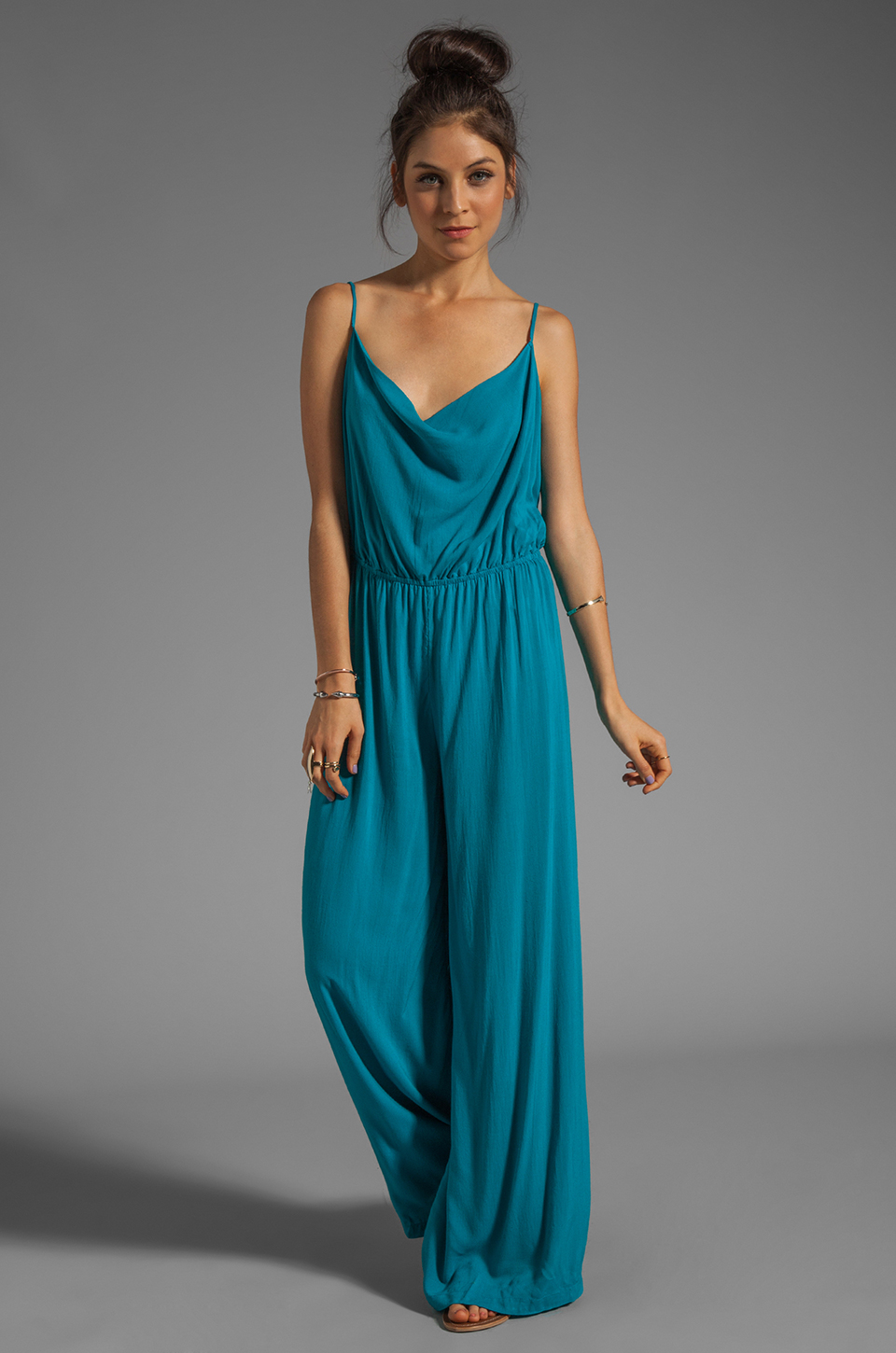 Awesome Coral Amp Turquoise SashCinched Jumpsuit  Women  Zulily