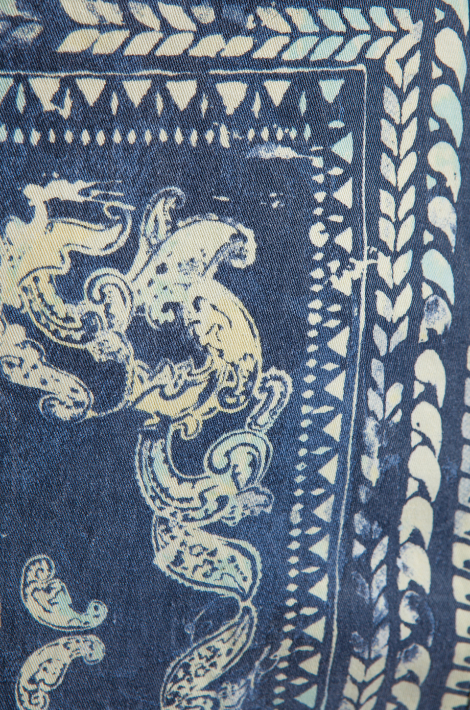 Insight Bandana Dress in Indigo Paisley