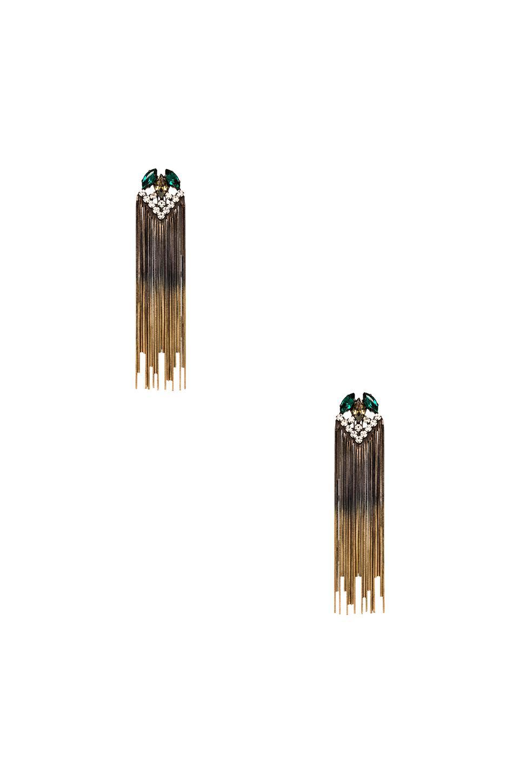 Iosselliani Fringe Earring in Green