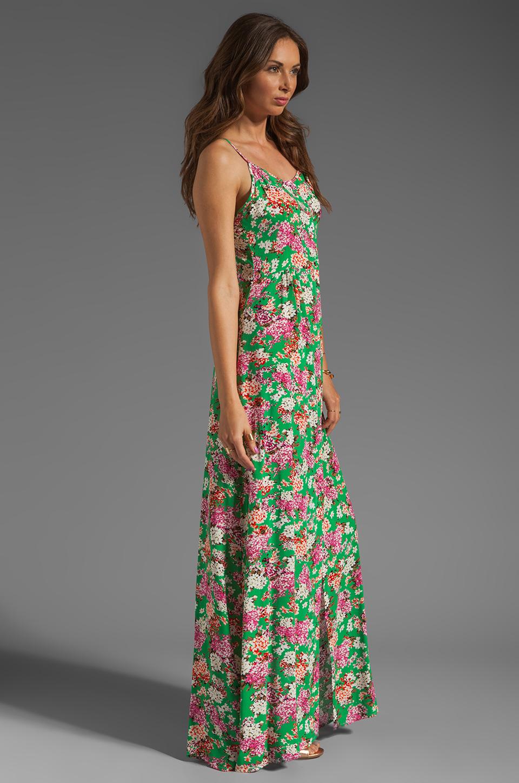 JARLO Vanessa Floral Maxi Dress in Green