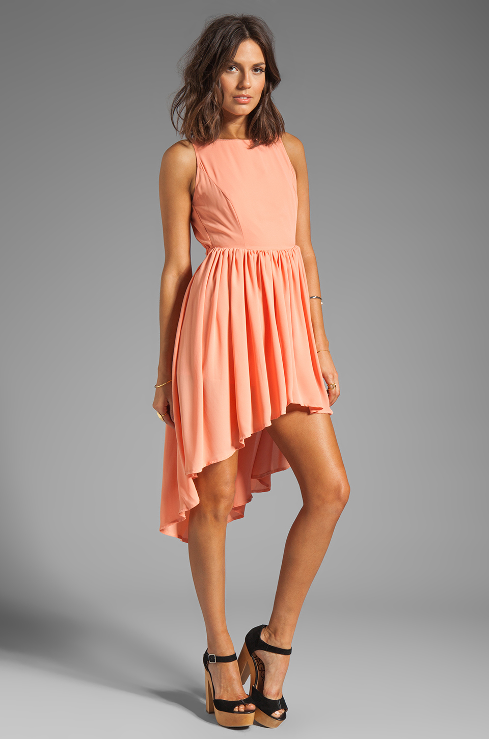 JARLO Allondra Dress in Apricot