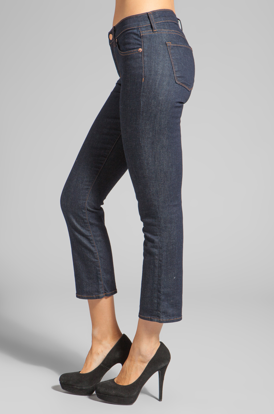 J Brand Sylvie Mid Rise Crop Flare in Clean Rinse