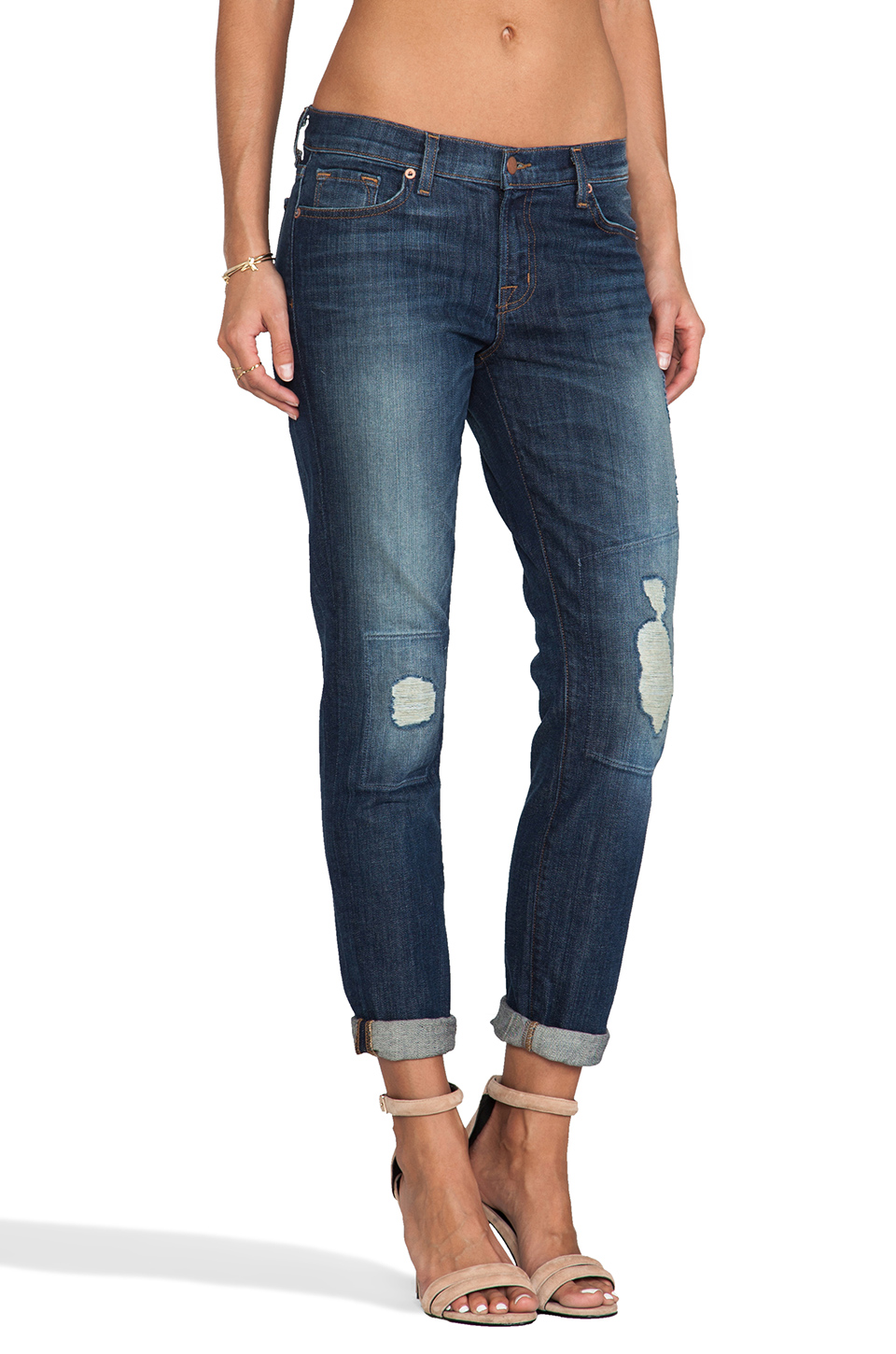 J Brand Midori Patch Boyfriend Skinny in Big Time