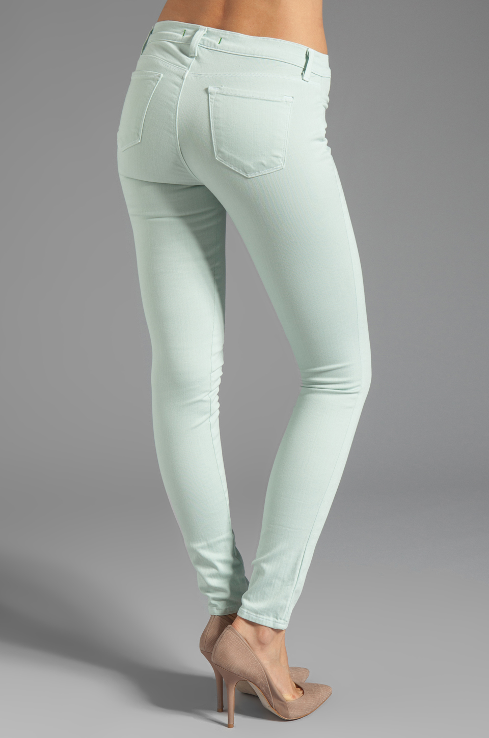 J Brand Midrise Power Stretch Super Skinny in Glass