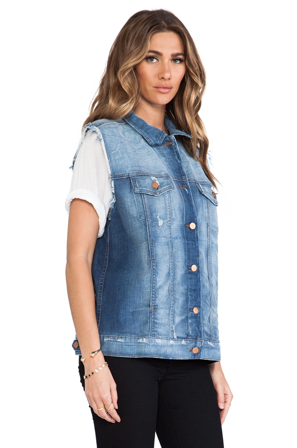 J Brand Tommy Oversized Vest in Riff
