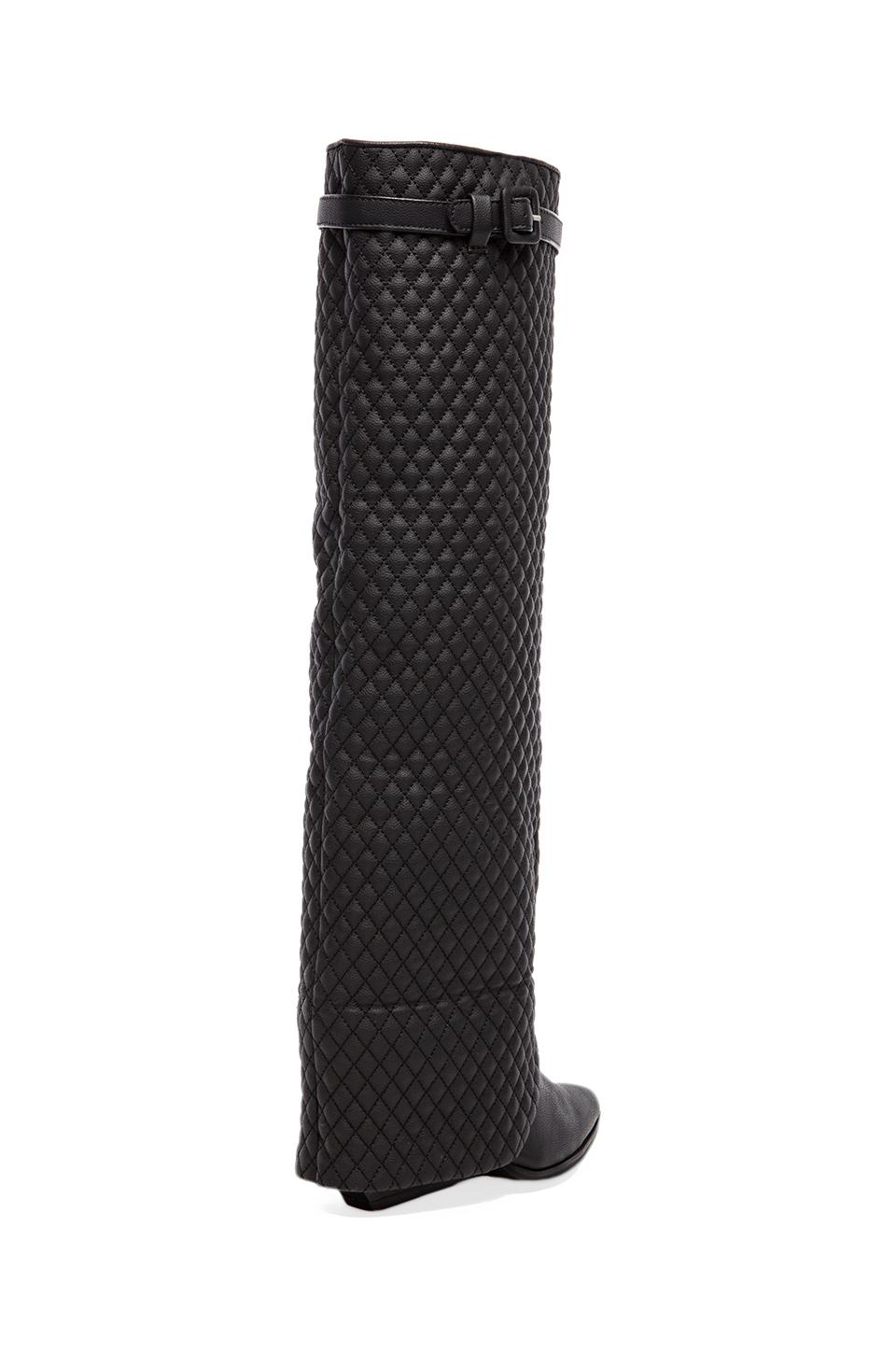 Jeffrey Campbell Workin Q Foldover Boot in Black Quilted