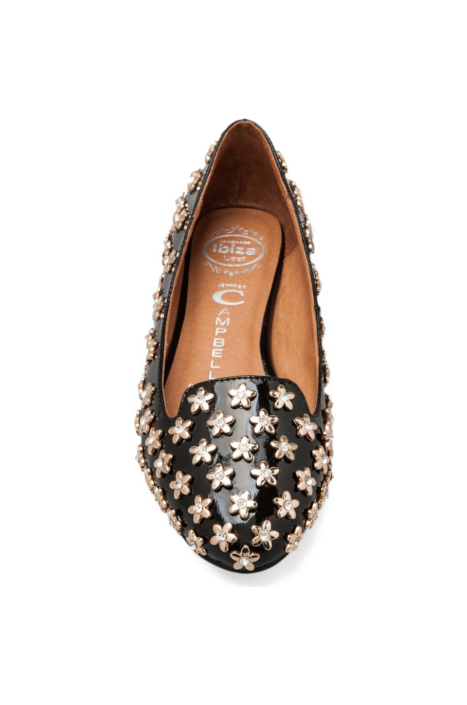 Jeffrey Campbell Martini-Flower in Black Patent Gold