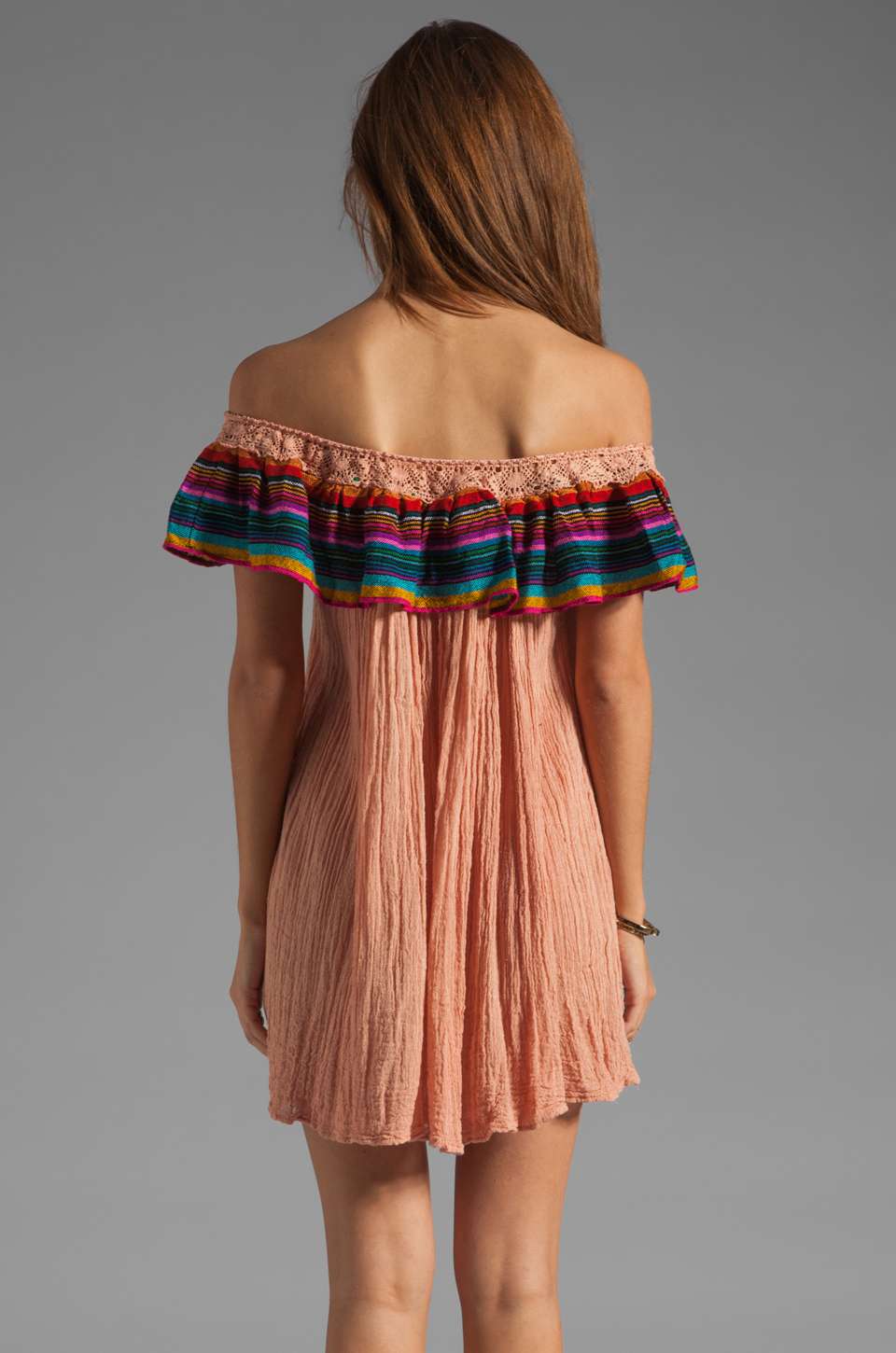 Jen's Pirate Booty T&B Senorita Dress in Clay/Colorful Stripe