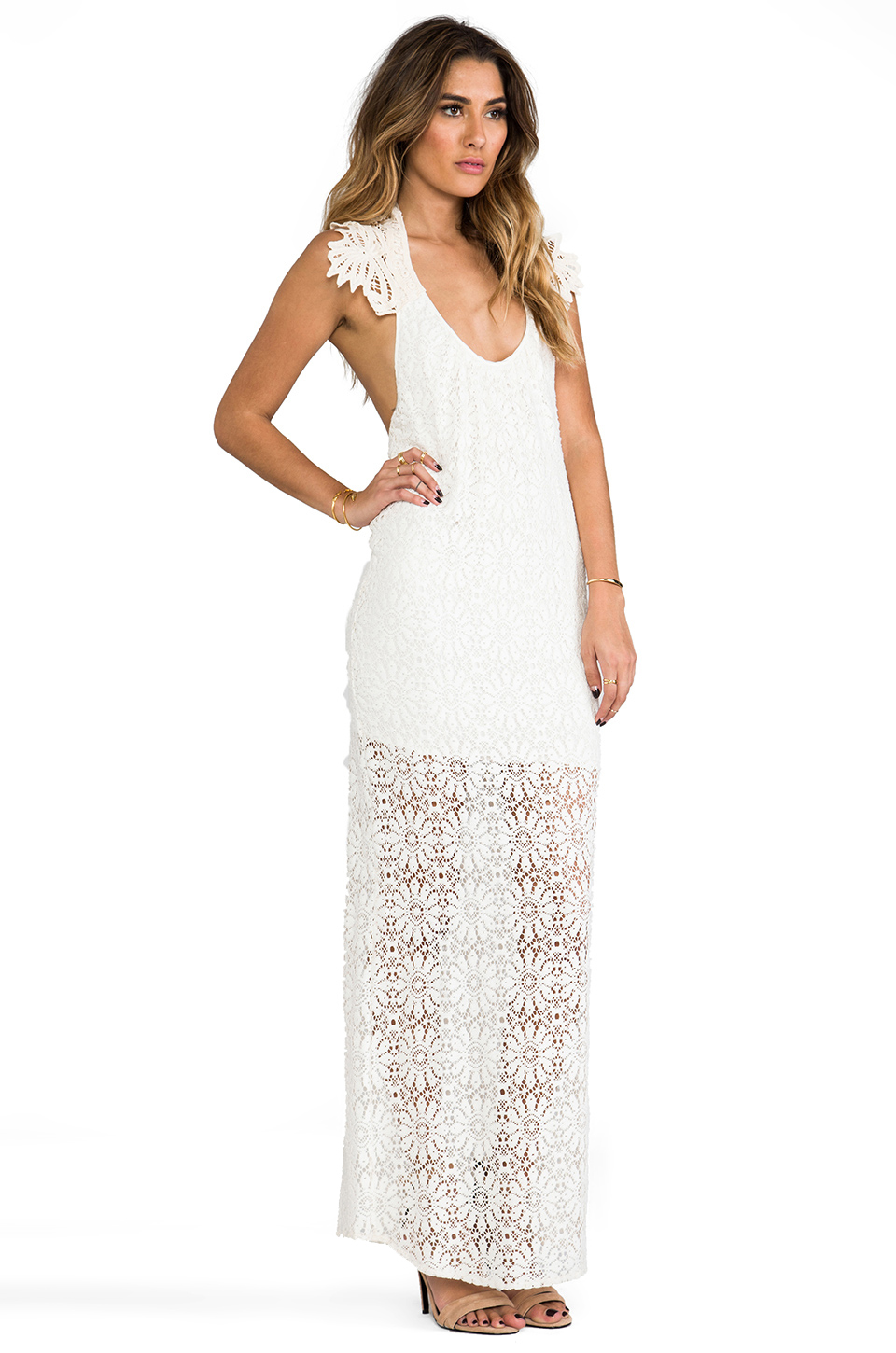 Jen's Pirate Booty Freedom Maxi Dress in OG Lace