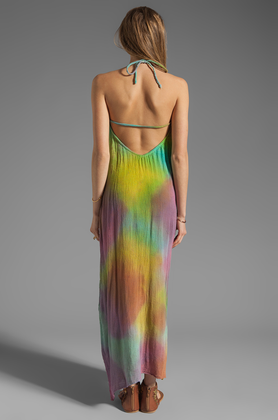 Jen's Pirate Booty Zumirez Maxi Dress in Flashback Bright Tie Dye