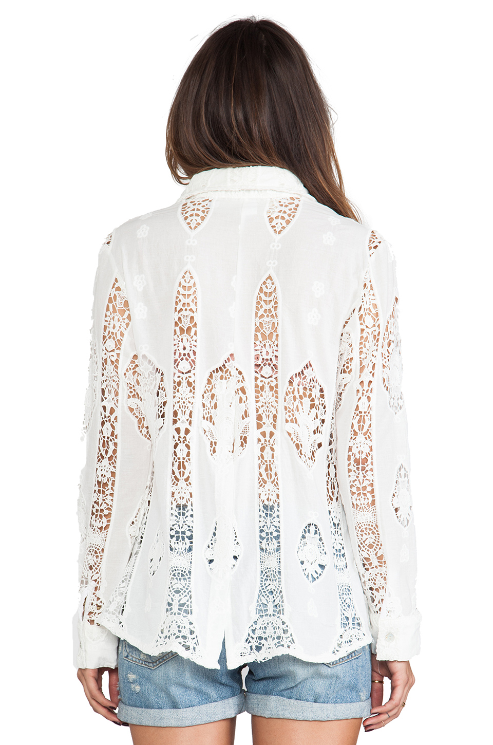 Jen's Pirate Booty Patience Button Up in Stained Glass