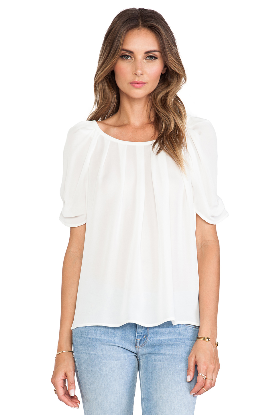 Joie Eleanor Top in Porcelain