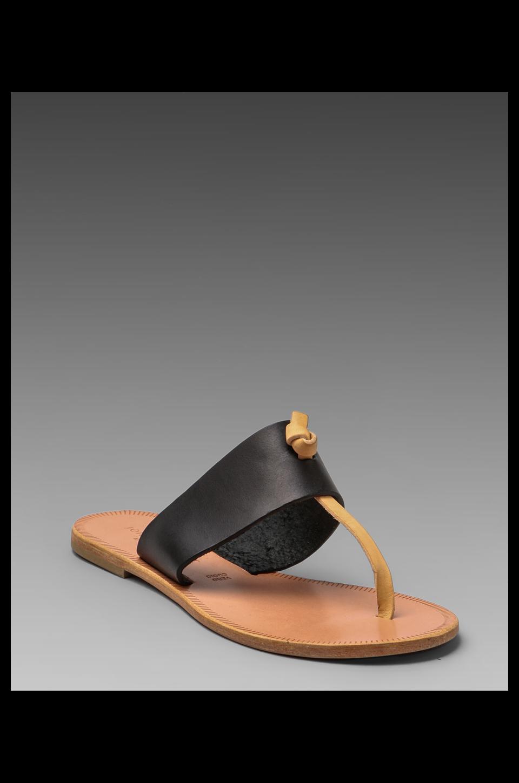 Joie a La Plage Nice T Strap Sandal in Black/Natural