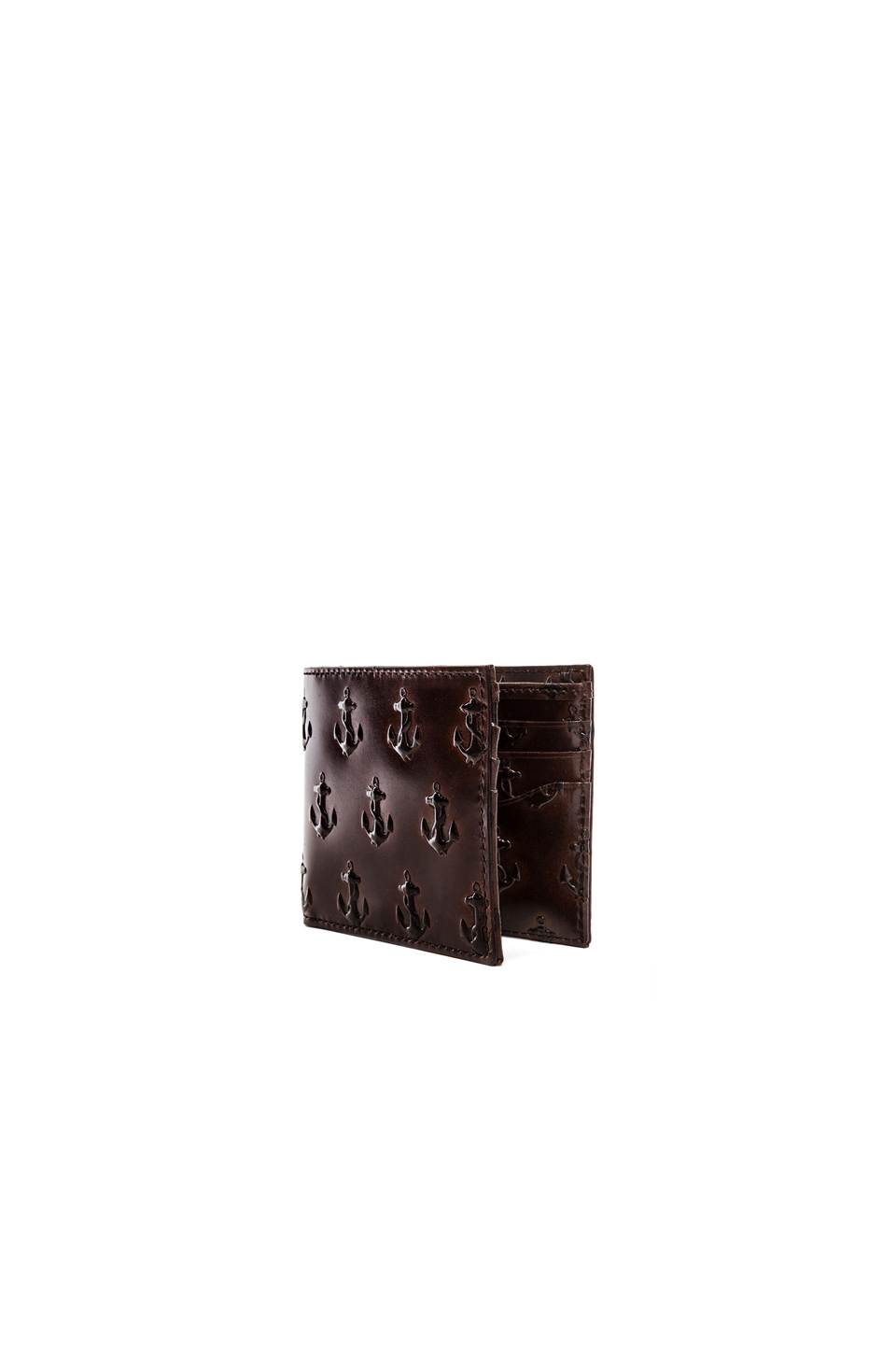 Jack Spade Jack Spade Embossed Anchor Bill Holder Wallet in Brown