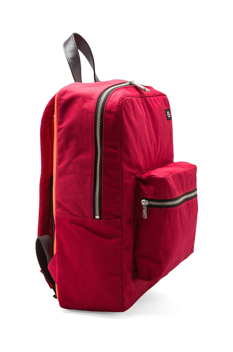 Jack Spade Foundation Canvas Backpack in Red