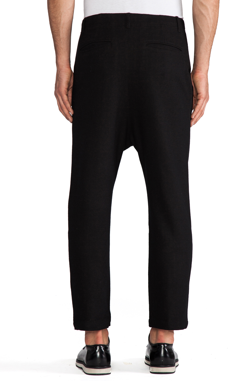 Kai-aakmann Drop Trouser in Black