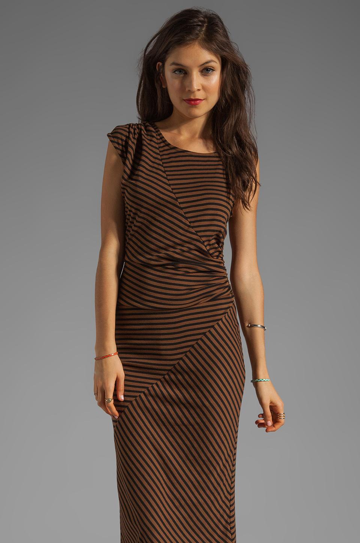 Kain 1x1 Miika Dress in Cinnamon/Black Stripe