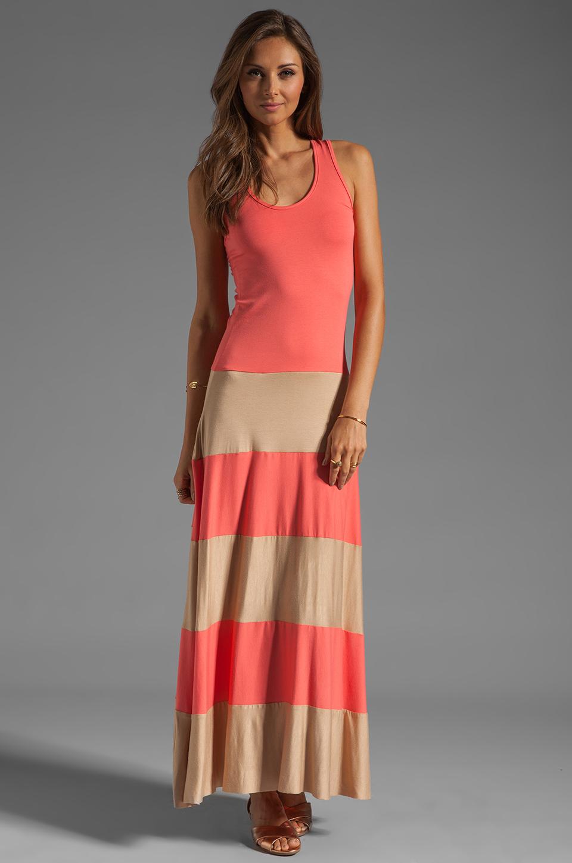 Karina Grimaldi Biscot Maxi Tank Dress Coral