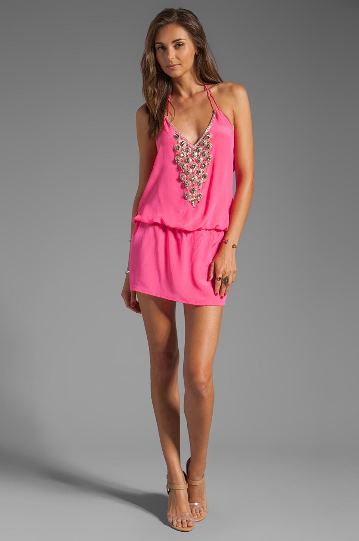 Karina Grimaldi Freeport Beaded Mini in Pink