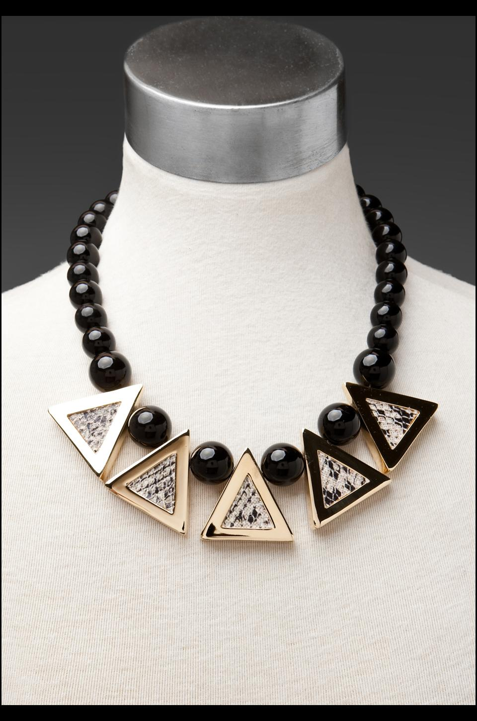Roman Luxe Python Triangle Necklace in Gold