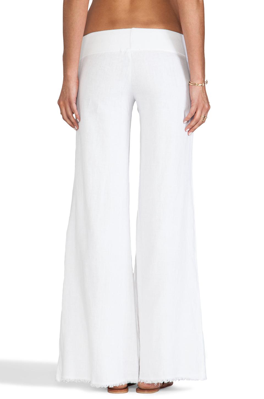 Unique 100 LIN BLANC White Linen WideLeg Pants  Women Amp Plus  Zulily