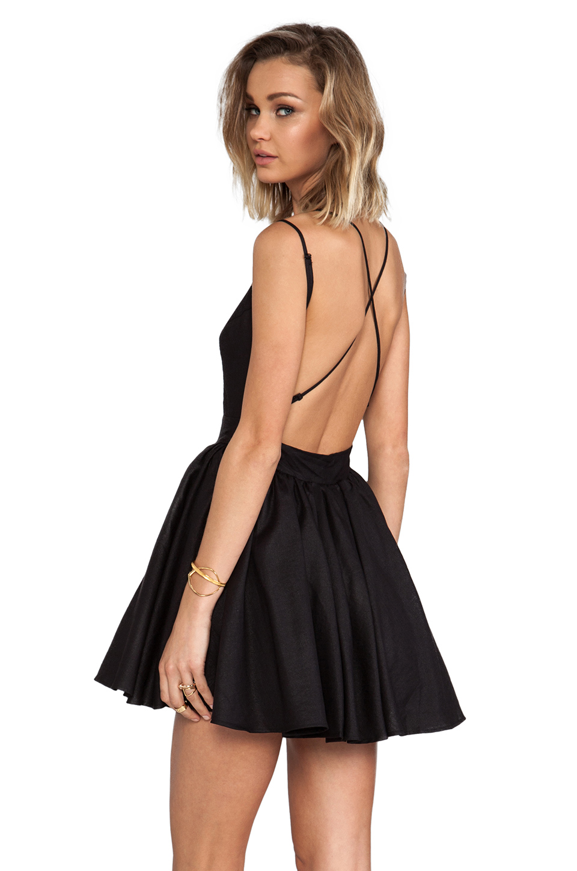 keepsake Perfect Stranger Dress in Black