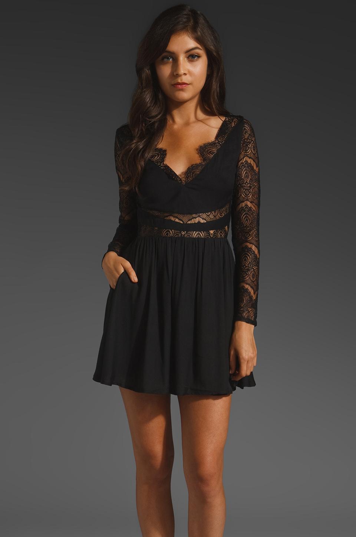 keepsake Paradise Stars Dress in Black