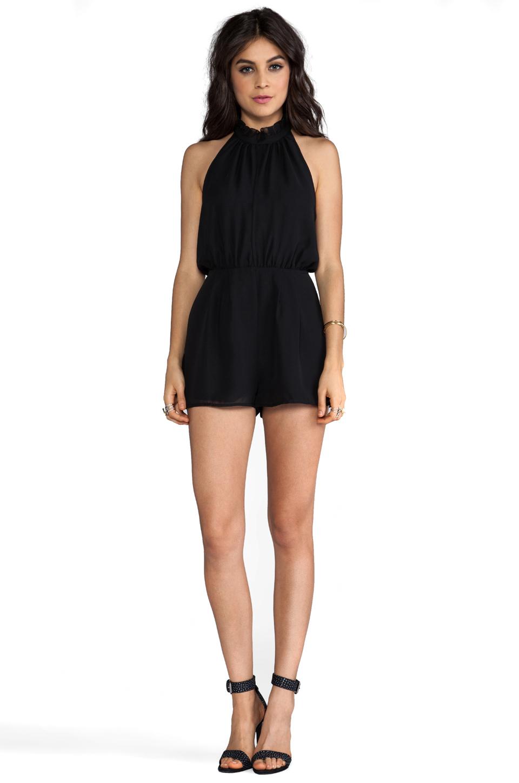 keepsake Stephanie Playsuit in Black