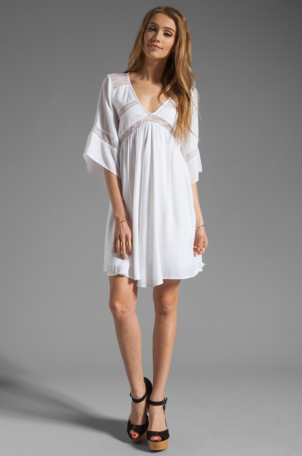 Ladakh Rain Dancer Dress in Ivory