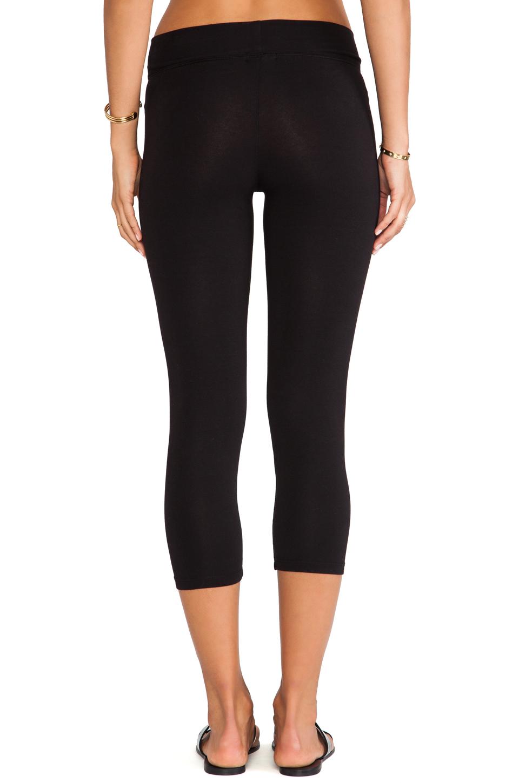 LA Made Lycra Jersey Cropped Legging in Black
