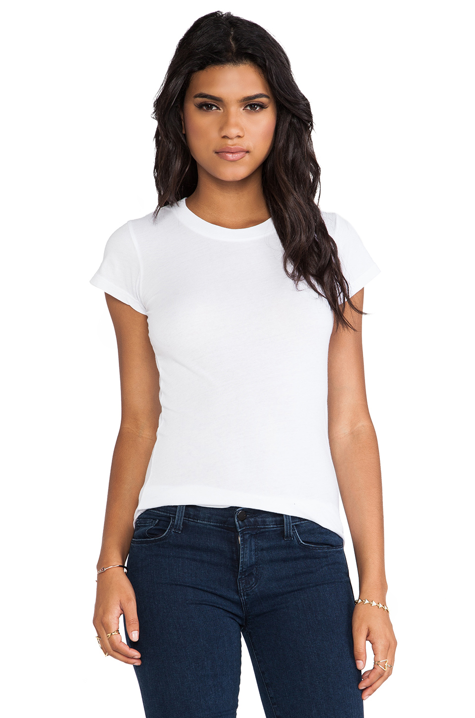 LA Made Tissue Jersey Short Sleeve Crew in White