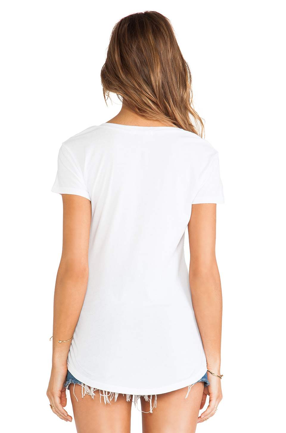 LA Made V Pocket Tee in White
