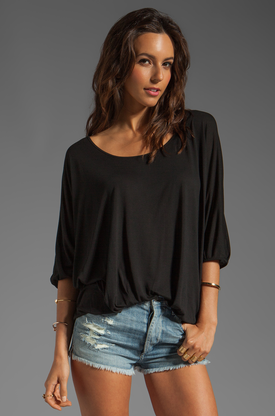 Lanston Pleated Top in Black