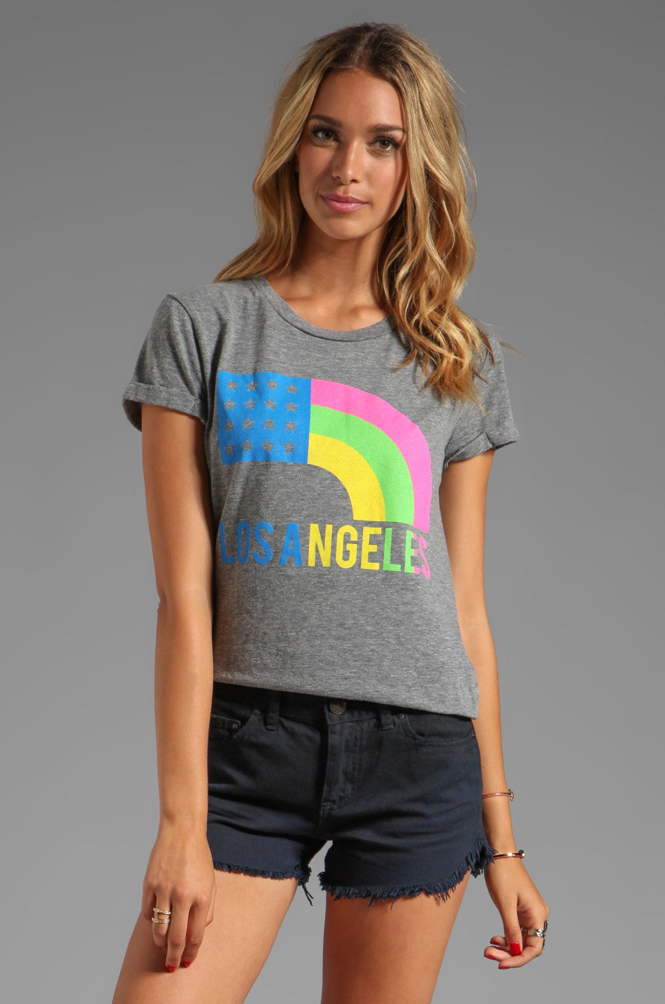 Local Celebrity Los Angeles Tee in Heather Grey