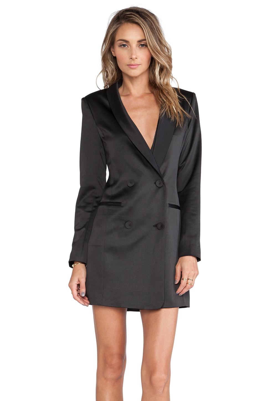 Line & Dot Angelina Tuxedo Dress in Black