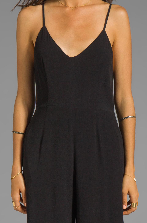 Line & Dot Deep V Jumpsuit in Black