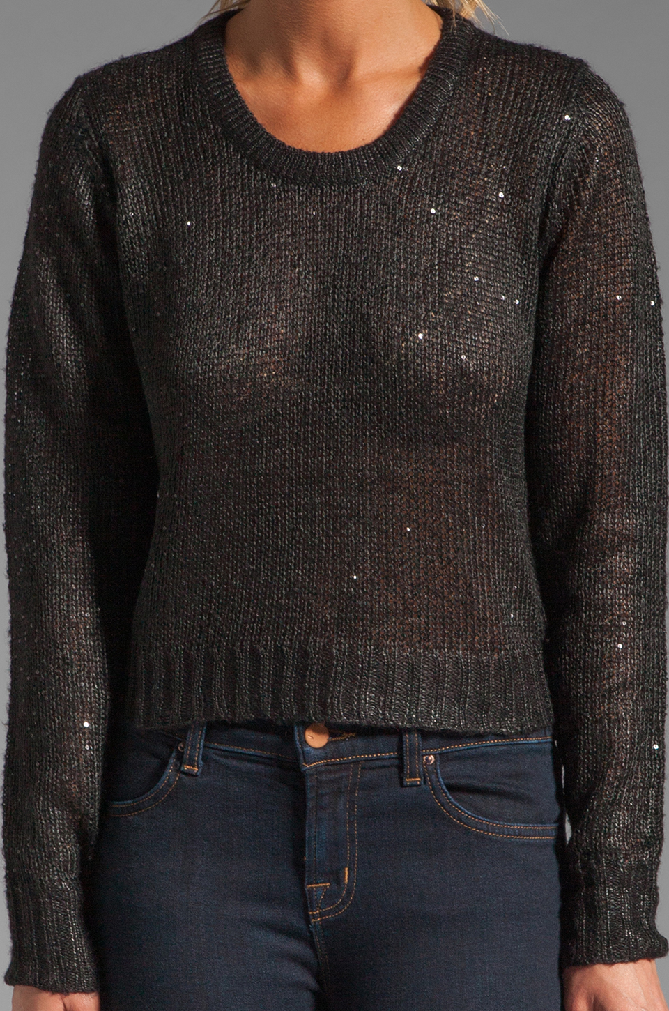 Line Roger Sequin Sweater in Caviar