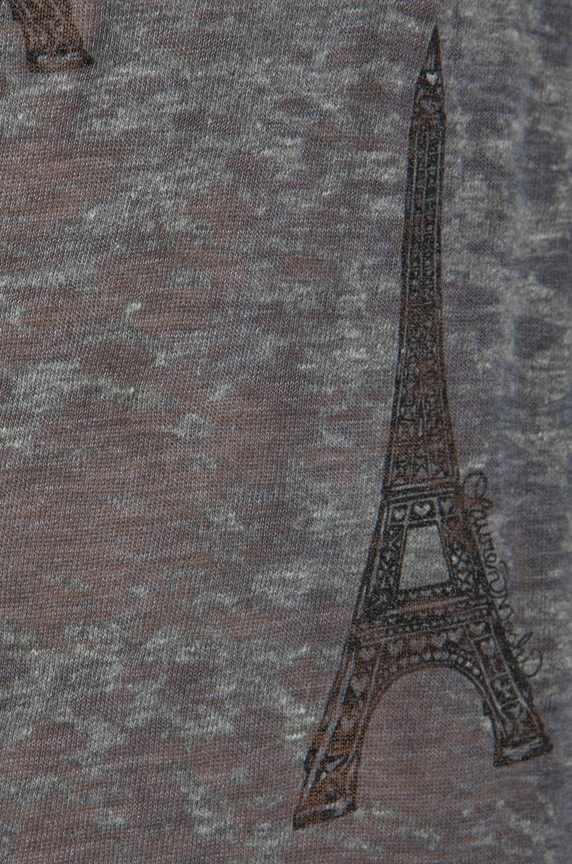 Lauren Moshi Audrey Mini Towers Scoop Tee in Heather Grey