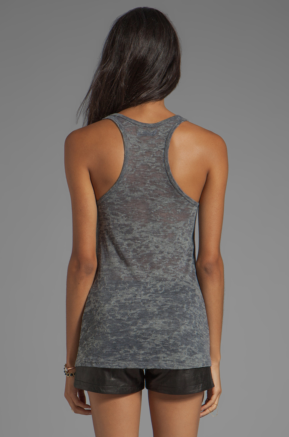 Lauren Moshi Nancy Color Miami Beach Swing Tank in Heather Grey